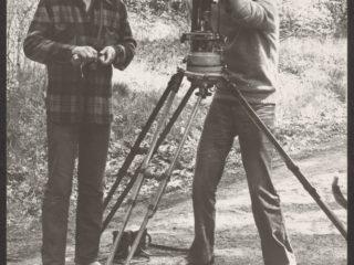 Na planie filmu 'Prześwietlenie' w Sokołowsku z operatorem zdjęć Jackiem Petryckim.