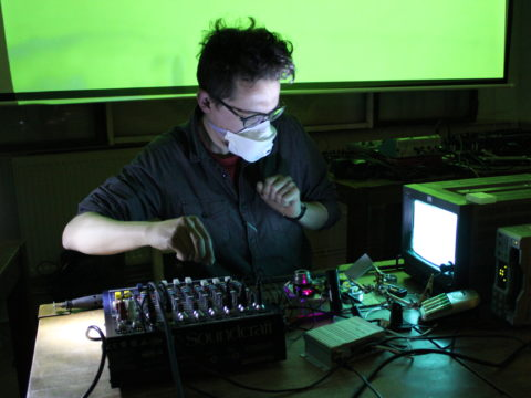 Stephen Cornford - Destruction of an Image Sensor (2016) live at Apiary Studios, London, UK.
